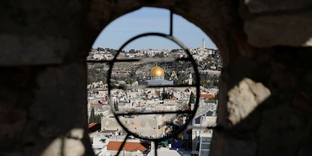 A general view shows the Dome of the Rock and Jerusalem's Old City from David Tower December 4, 2017. REUTERS/Ronen Zvulun