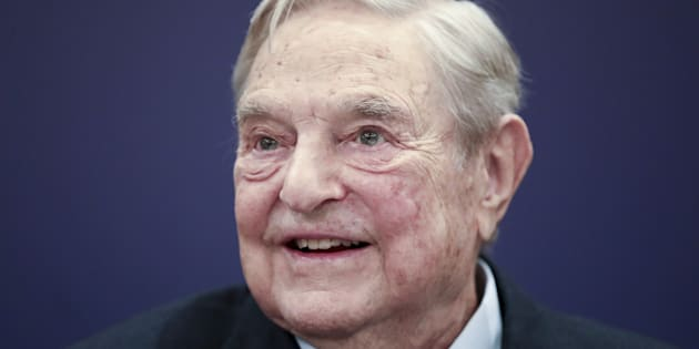 George Soros, billionaire and founder of Soros Fund Management LLC, speaks at an event on day three of the World Economic Forum (WEF) in Davos, Switzerland, on Thursday, Jan. 25, 2018. World leaders, influential executives, bankers and policy makers attend the 48th annual meeting of the World Economic Forum in Davos from Jan. 23 - 26. Photographer: Simon Dawson/Bloomberg via Getty Images