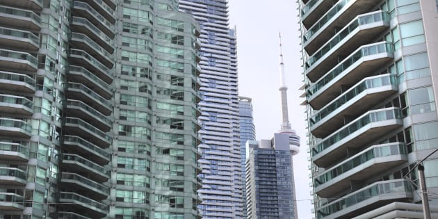 Condo towers at the corner of Yonge and Queen's Quay in Toronto. Data shows that there are more house-flippers than foreign buyers in Toronto.