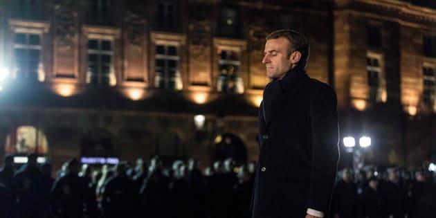 Emmanuel Macron à Strasbourg le vendredi 14 décembre