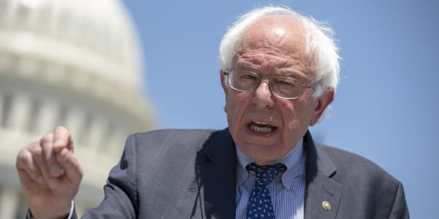 U.S. Sen. Bernie Sanders speaks during a news conference at the U.S. Capitol on July 10, 2018 in Washington, D.C.