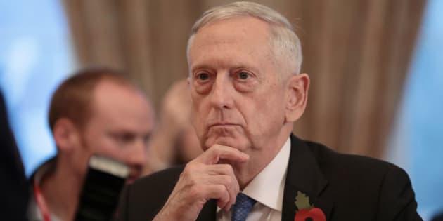 Le ministre de la Défense  Jim Mattis