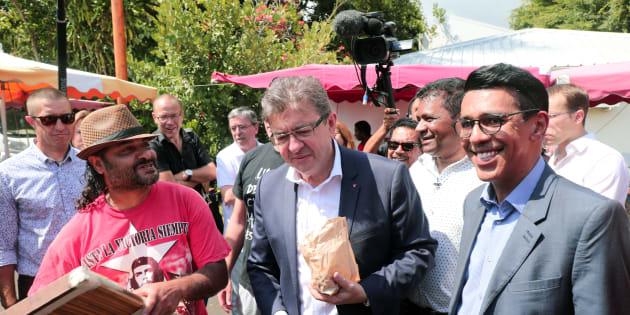Jean-Luc Mélenchon en visite à la réunion samedi 16 septembre.