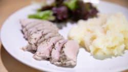 Cómo preparar solomillo de cerdo a la sal con puré de