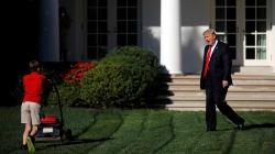 Ce gamin qui tond la pelouse à la Maison Blanche vaut le