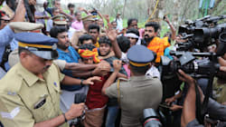 Sabarimala Tense As Police Use Force To Disperse Protesters Opposing Entry Of Women In