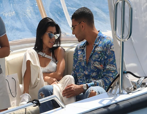 Kourtney Kardashian spotted at Cannes with new beau