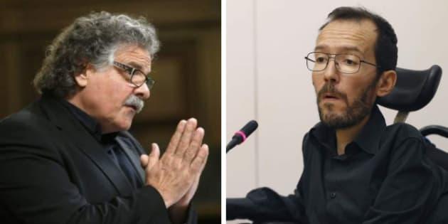 """Tardá exige a Echenique que pida perdón por """"ridiculizar"""" el referéndum"""