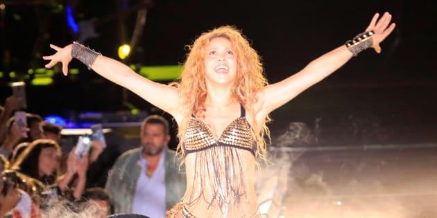La cantante colombiana Shakira en un concierto reciente.