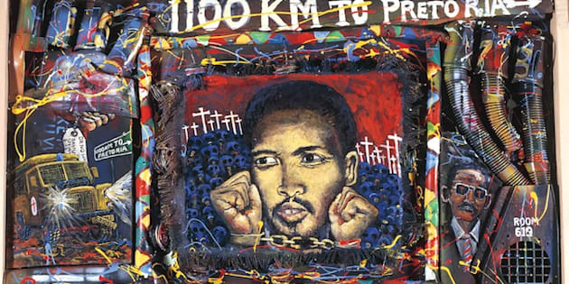 In 1992, artist Willie Bester painted this moving tribute to his friend Steve Biko.