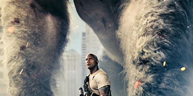 Un gorille albinos et des loups de la taille d'un hélicoptère dans le prochain film avec Dwayne Johnson
