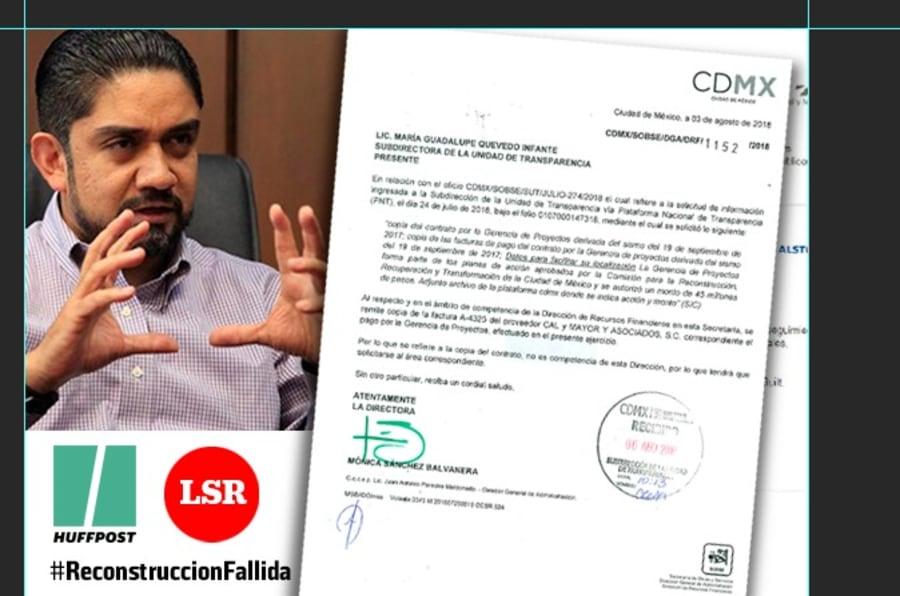 La Silla Rota y HuffPost México confirmaron que Carlos Tungüi Rodríguez, hermano del comisionado para la reconstrucción, todavía labora en la empresa Cal y Mayor y Asociados S.C. Además, en Linkedin en su perfil aparece dicho puesto.
