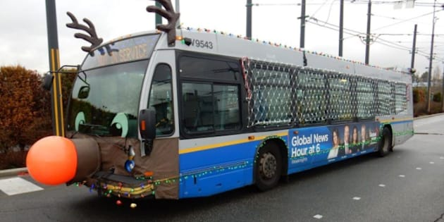 TransLink's Reindeer Bus is spreading Christmas cheer around Vancouver.