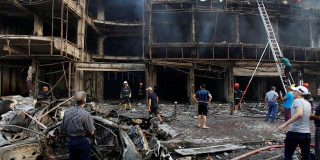 Atentado con furgoneta bomba en el centro de Bagdad, el pasado julio de 2016, que dejó 140 muertos en pleno Ramadán.