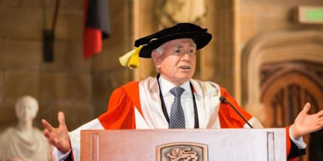 John Howard received an honorary doctorate from the University of Sydney last Friday.