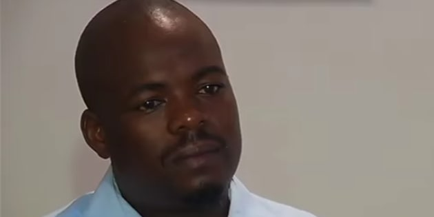 Mike Dzange in a screengrab from his televised apology.