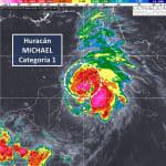 Michael se convierte en huracán categoría 1 en Cozumel, Quintana