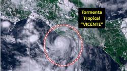 Se forma tormenta tropical Vicente; provocará tormentas en Chiapas, Oaxaca y