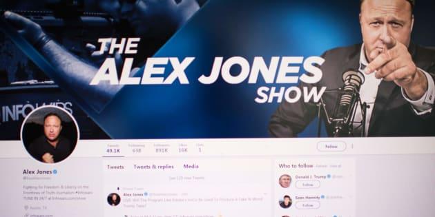 Le compte Twitter d'Alex Jones a été suspendu pour une semaine, mardi dernier.