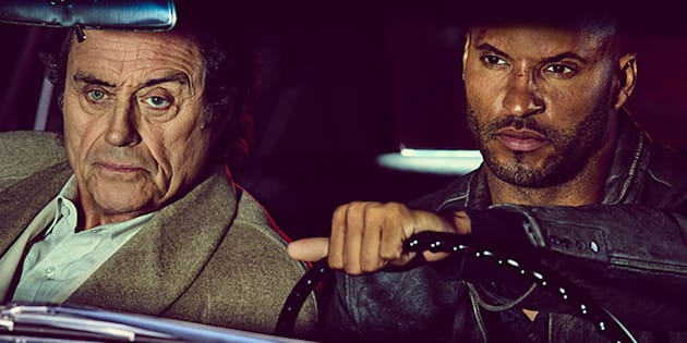 God that's good: Ian McShane and Ricky Whittle star in Bryan Fuller's 'American Gods'.