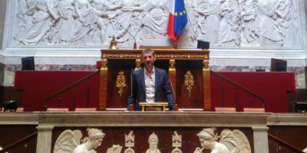 Le député LREM Matthieu Orphelin lors de sa première journée à l'Assemblée nationale, le 20 juin 2017.