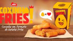 Burger King une paixões brasileiras e lança coxinha em formato de