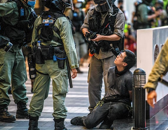 Hong Kong police make first arrests under new law