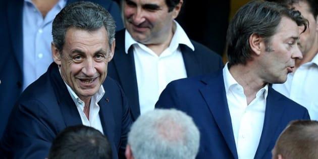 Troyes bat Lorient en barrage de Ligue 1 sous les yeux de Nicolas Sarkozy