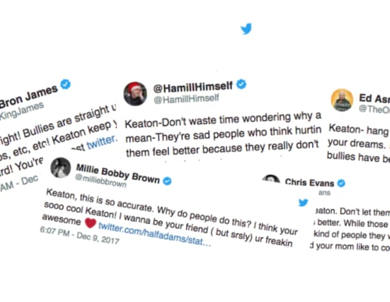 Celebrities reach out to Keaton Jones