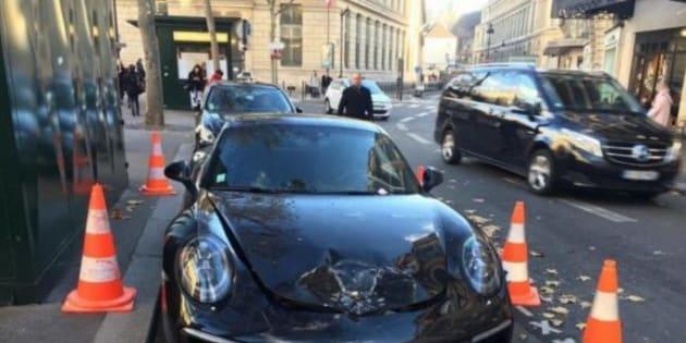 """Considérée comme suspecte, la voiture a été """"sécurisée""""."""