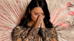 Adriana Lima en larmes pour son dernier défilé Victoria's