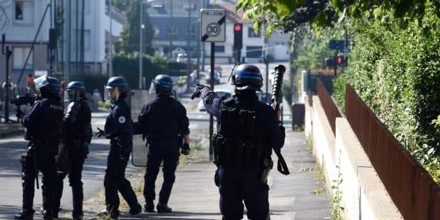 Mort d'Aboubakar F. à Nantes: des policiers sur le terrain après les violences urbaines.