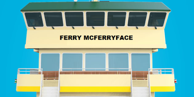 Sydney's new ferry named Ferry McFerryface
