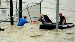 Esta foto viral de Trump 'rescatando' víctimas del huracán Florence es