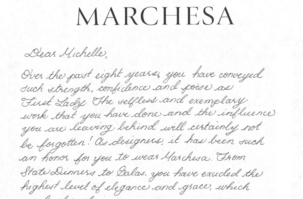 Dear Michelle Designers Write Thank You Notes To The First Lady