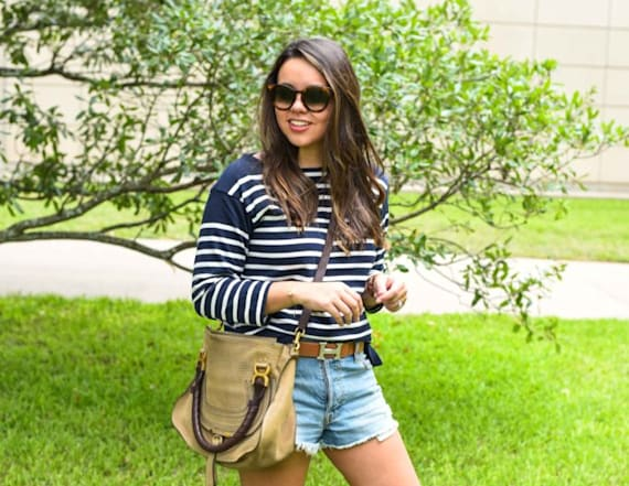Street style tip of the day: Patriotic stripes