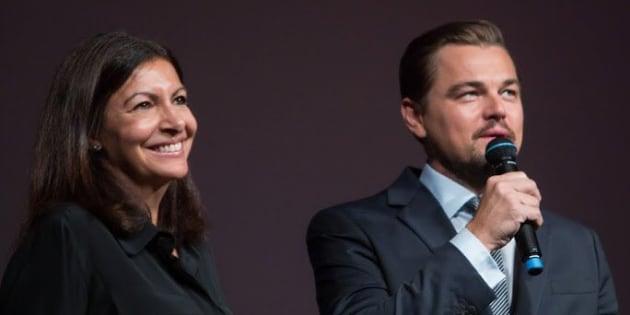 Très engagé dans la préservation de la nature, l'acteur américain Leonardo DiCaprio a remis à Anne Hidalgo le prix de sa fondation.