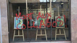 Le siège de la CFDT vandalisé après l'appel à voter Macron au 2nd