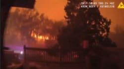 Dans les incendies de Californie, les images du sauvetage in extremis des