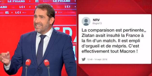 """""""Macron c'est mieux que Mbappé, c'est Zlatan"""": Castaner corrige sa comparaison."""