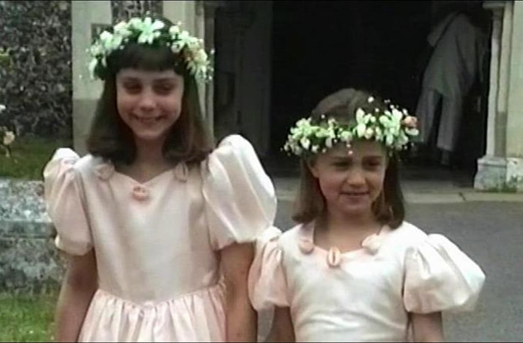 c7d582e716b Young Kate and Pippa Middleton were bridesmaids in their uncle s 1991  wedding
