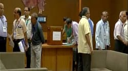 Counting For Gujarat Rajya Sabha Polls Halted Amid Controversy Over Congress