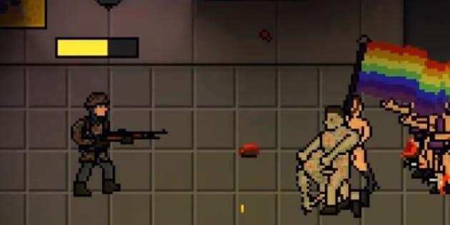 Los usuarios del videojuego deben asesinar a asistentes en un antro gay para subir de nivel