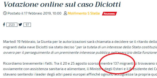 I militanti del M5s hanno detto no al processo a Salvini