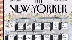 Le mois de janvier est vraiment sans fin et cette Une du «New Yorker» le