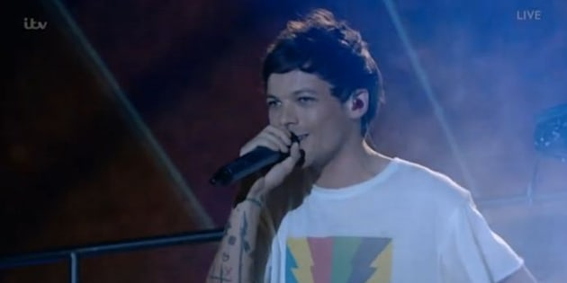 Louis held it together during his performance