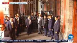 'Vengo con ánimos de conciliación', AMLO al llegar a Palacio