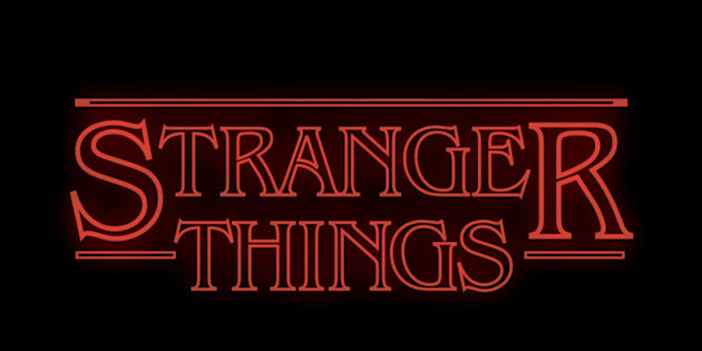 The title card of Netflix's 'Stranger Things'.