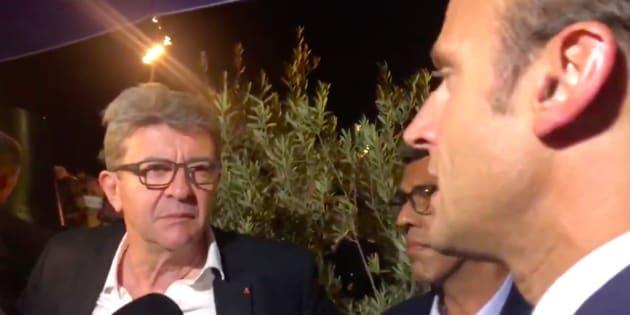À Marseille, Jean-Luc Mélenchon a eu du mal à assumer ses propos face à Emmanuel Macron.