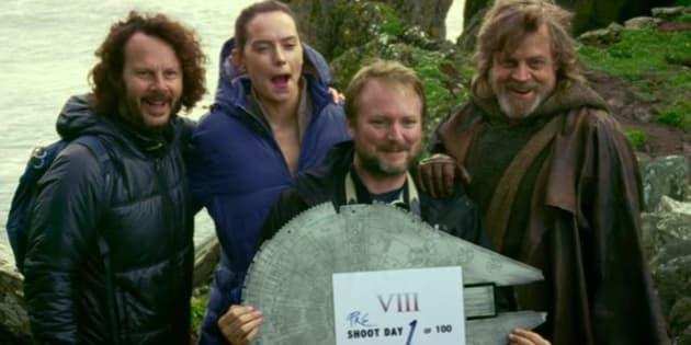 """Même les images des coulisses du tournage de """"Star Wars: The Last Jedi"""" sont épiques ."""